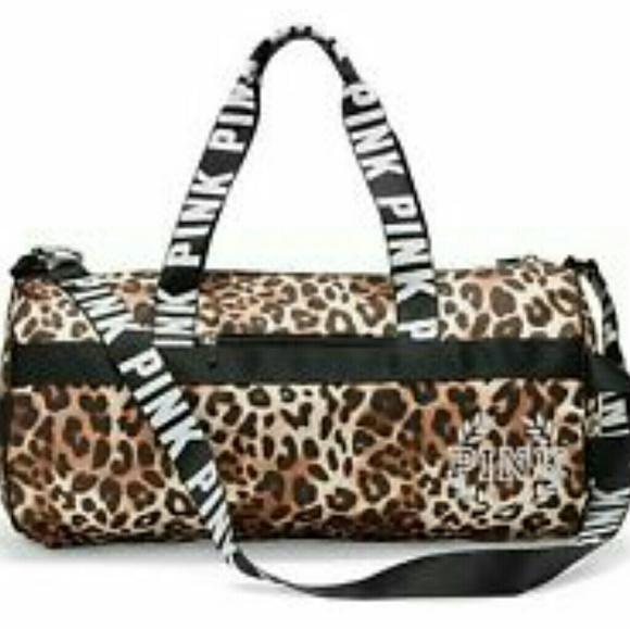 2bc271e0e1a9 Victoria s Secret Pink Cheetah Duffle Bag